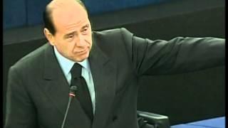La figuraccia di Berlusconi al parlamento europeo