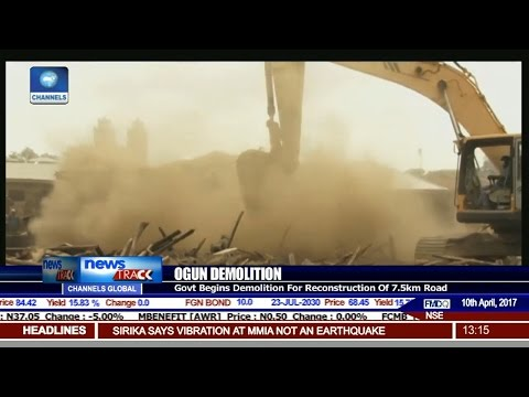 Ogun State Govt. Begins Demolition For Reconstruction Of 7.5km Road