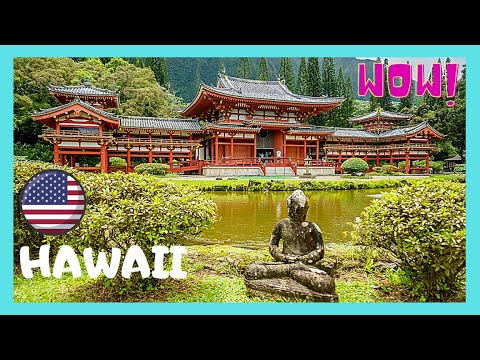 HONOLULU, the magnificent Japanese Buddhist Temple Byōdō-in (HAWAII)