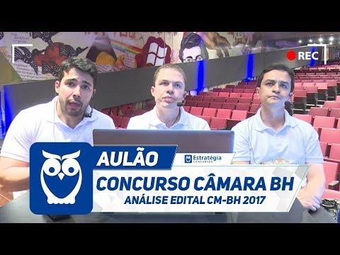 Concurso Câmara BH - Análise Edital CM-BH 2017