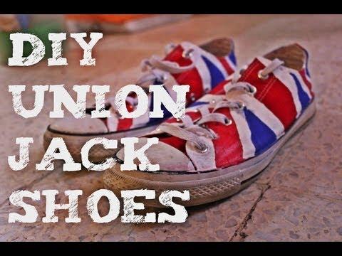 DIY Union Jack Converse