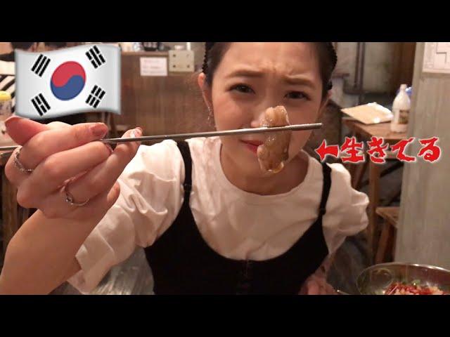 【超おすすめ】韓国で安くて美味しい!ユッケやらサンナクチをモッパン 먹방