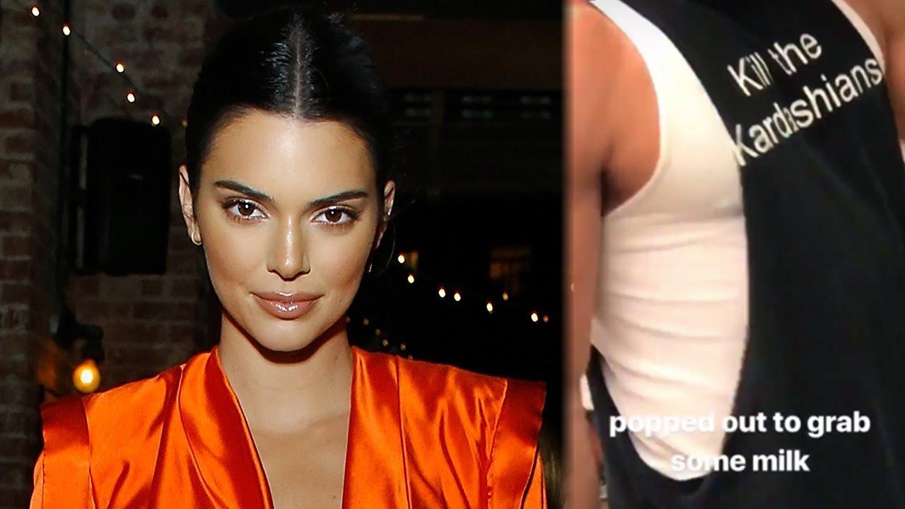 "Kendall Jenner Has AWKWARD Run-In With Man in ""Kill The Kardashians"" Shirt"