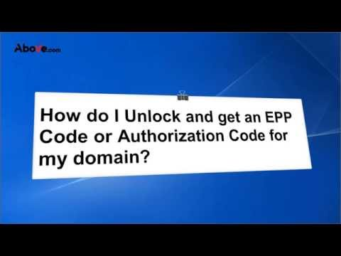 How do I unlock & get an EPP Code or Authorization code for my Domain?