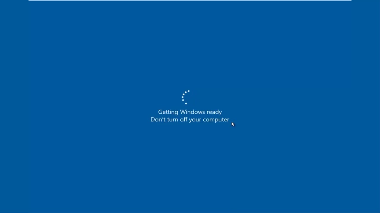 windows 10 black screen with cursor after login