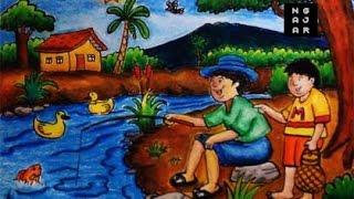 Cara Mewarnai Orang Sedang Memancing Ikan By Ngajar Warna