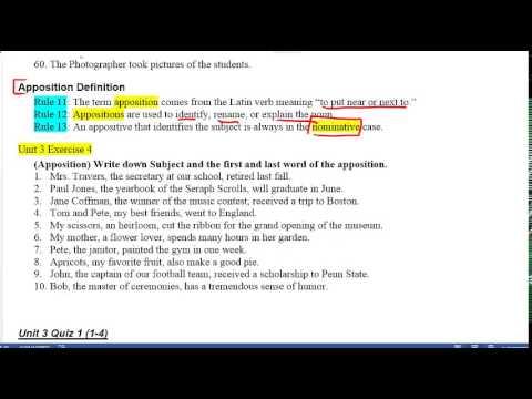 Grammar Unit 3 Lesson 2 Apposition