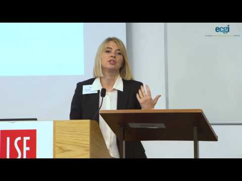 """ECGI Annual Lecture 2016 - """"Are CEO's Fired for Bad Luck?"""""""