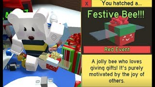 ALL FESTIVAL BEE QUEST COMPLETED !! FESTIVAL GIFT REWARDS !! Roblox Bee Swarm Simulator