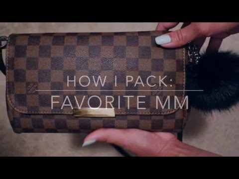 Louis Vuitton Favorite MM | How I pack my bag |