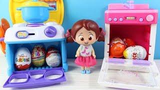 Niloya Heidi Clara Kinder Joy Toybox Yumurta Kinder Sürpriz Cece Smartt Yumurta Açıyorlar