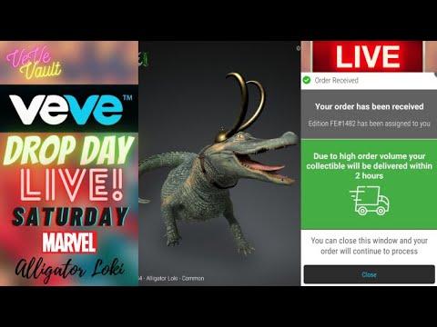 Download VeVe Drop Day LIVE -  Alligator Loki First Appearance Animated NFT Drop! Modern Marvel Series 4