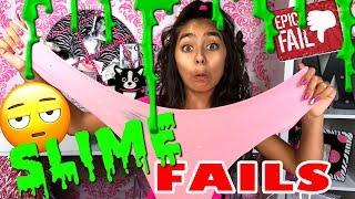 Slime DIY - Funny Slime Tutorial Fail - Make Slime with No Borax : Mercedes World // GEM Sisters