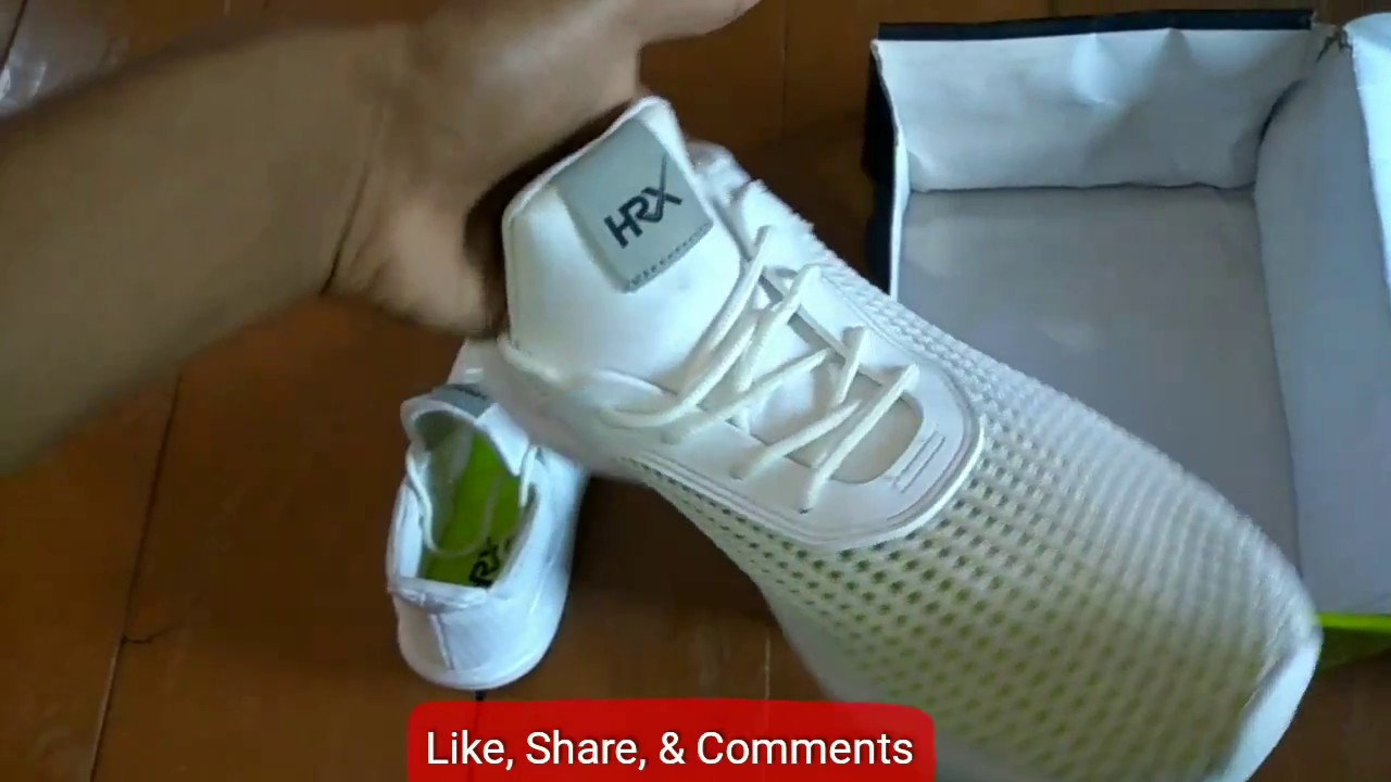 newest fa12f ea8a2 HRX MJ - 10253A WHITE shoe review [Hindi]