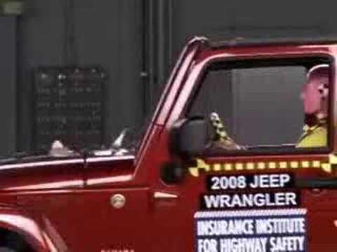 Crash Test 2007  2011 Jeep Wrangler 4dr Frontal Offset IIHS