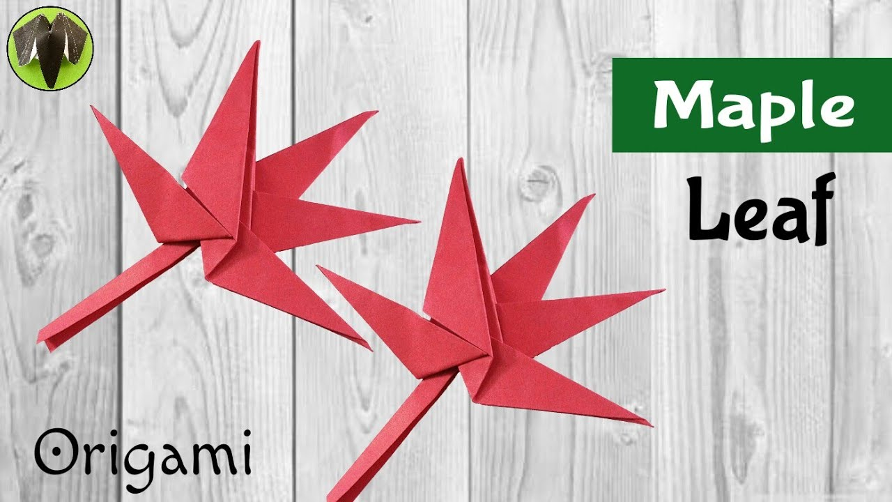 """Origami Tutorial to make """"Maple 🍁 leaf"""" for Thanksgiving ... - photo#14"""