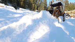 So... Just HOW MUCH SNOW Can a BACKHOE PUSH?