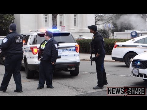 White House on lockdown after car breaches barrier