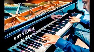 QUEEN - ONE VISION (HD/HQ piano cover - one Man one Piano best version)