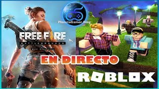 ROBLOX VS FREE FIRE LIVE PLAYING WITH SUBS