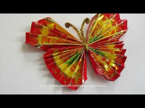 CNY TUTORIAL NO. 60 - Hongbao Butterfly (红包手工制作 - 蝴蝶 )