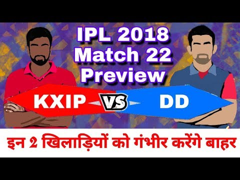 IPL 2018 : KXIP vs DD | Match 22 : Preview,Playing 11 and Match Prediction
