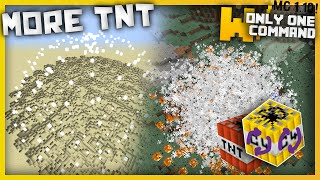Minecraft - More TNT with only one command block (1.10 command)