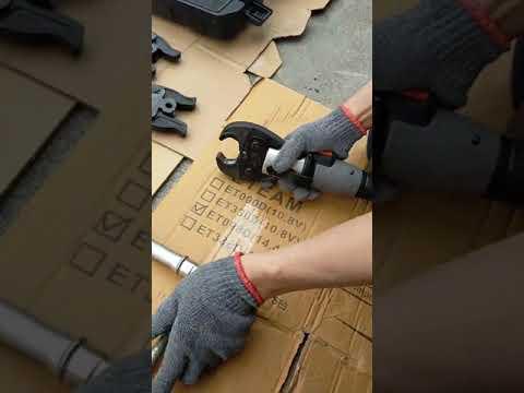 WIN五金 FKSBOST充電式18V輕巧型不鏽鋼水管壓接機 開口式 壓管機 剪刀式 可加購電纜剪 端子壓接頭