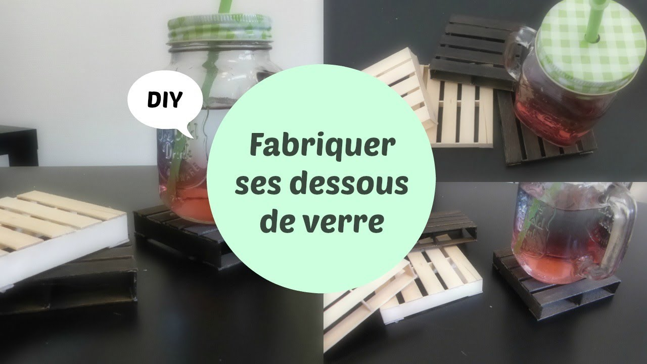 fabriquer ses dessous de verre diy youtube. Black Bedroom Furniture Sets. Home Design Ideas