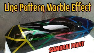MOTIF GARIS MARBLE EFFECT SAMURAI PAINT