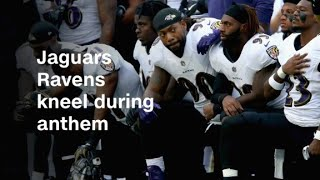 Ravens, Jaguars kneel during national anthem thumbnail