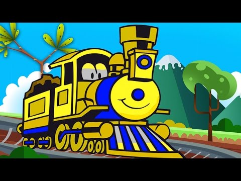 Trains for Children  Choo Choo Train to count - shapes and Kids Trains Cartoons part 1