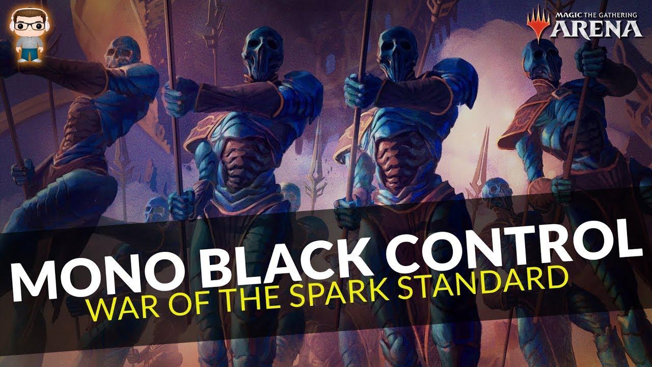Mono Black Control - WAR Standard Deck Tech & Gameplay - MTG Arena