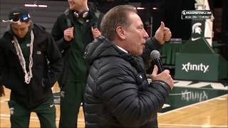 Spartans Welcome Home Michigan State Men