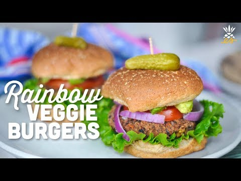 Rainbow Black Bean Veggie Burgers | Vegan, Gluten-Free & Cruelty-Free
