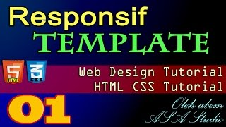 Responsif Template, Web Design, HTML CSS Tutorial