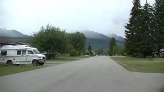 Valemount British Columbia Canada - Driving in Town - Cariboo, Monashee, Rocky Mountains