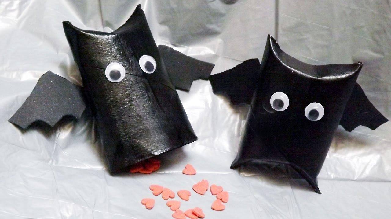 Come Fare Le Scatoline Pipistrello Per Halloween Youtube