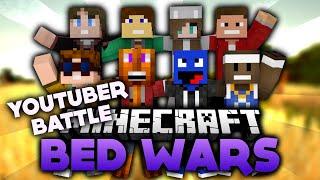 Fallschirmsprung im YouTuber Battle! - Minecraft Bed Wars | DieBuddiesZocken