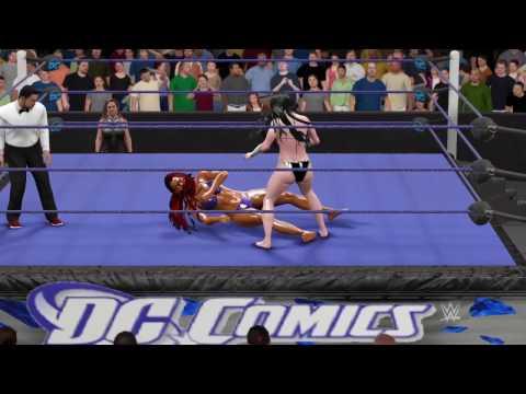 WWE 2K17 Starfire (Bikini) vs. Donna Troy (Bikini) - Ironman Rematch