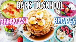 BACK TO SCHOOL BREAKFAST IDEAS!! Easy + Cheap!!