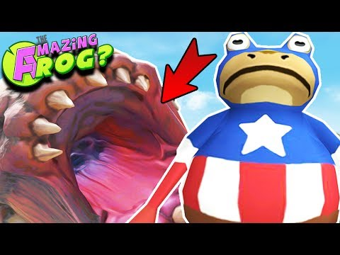 CAPTAIN AMERICA FROG, FROGOPOLIS CITY & THE GIANT WORM ||Amazing Frog Gameplay/Funny Moments Part 42