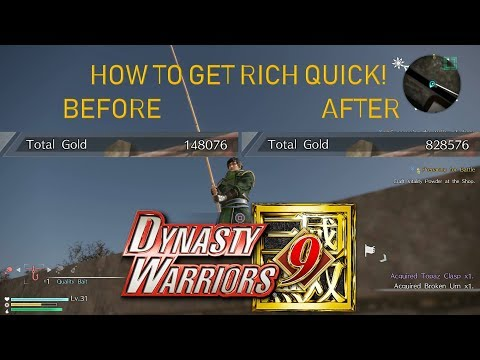 Dynasty Warriors 9 - How to get lots of gold in little time! (Fishing)