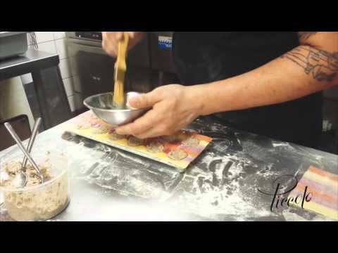 Chef Andres making homemade ravioli