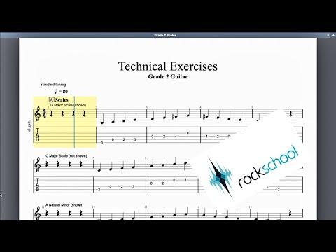 Technical Exercises Rockschool Grade 2 Guitar
