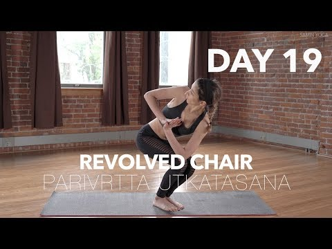 How to do Revolved Chair Pose | Yoga Tutorial Day 19 | 30 Poses 30 Days