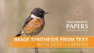 Image Synthesis From Text With Deep Learning | Two Minute Papers #116