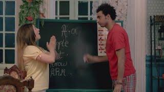 اضحك مع علي ربيع ودنيا سمير غانم وهي بتعلمه انجليزي وبيقولها انا عايز اتعلم الكلام قليل الادب🤣🤣