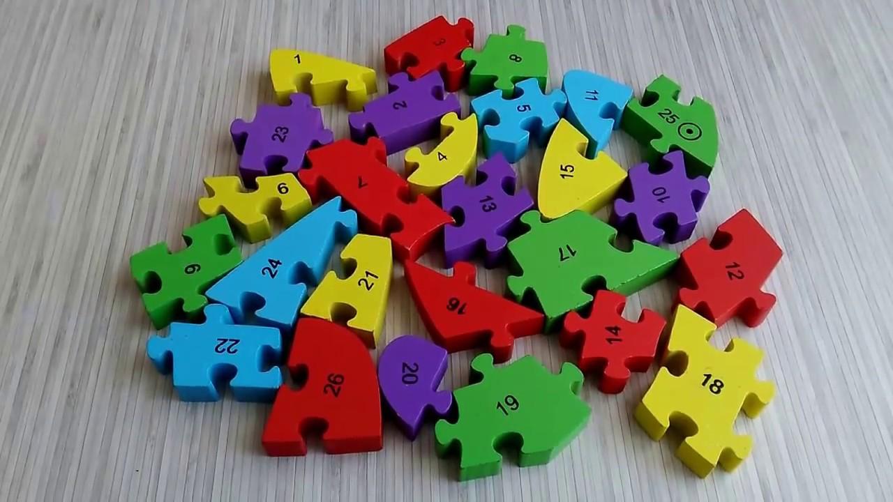 Puzzle Eğitici Oyuncaklar Yapboz Yapboz Oyunları Sayılar çocuk