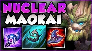 DON'T FACE CHECK BUSHES AGAINST THIS MAOKAI! NUKE MAOKAI IS 100% ABSURD! League of Legends Gameplay